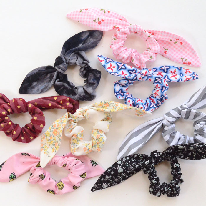 Bow Scrunchies DIY . How to make Bow Scrunchies sewing tutorial.
